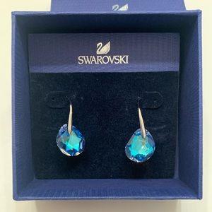 SWAROVSKI GALET EARRING - LAZO AZORE BLUE